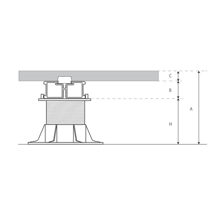 Sottostruttura per pavimenti sopraelevati - Altura de un piso ...